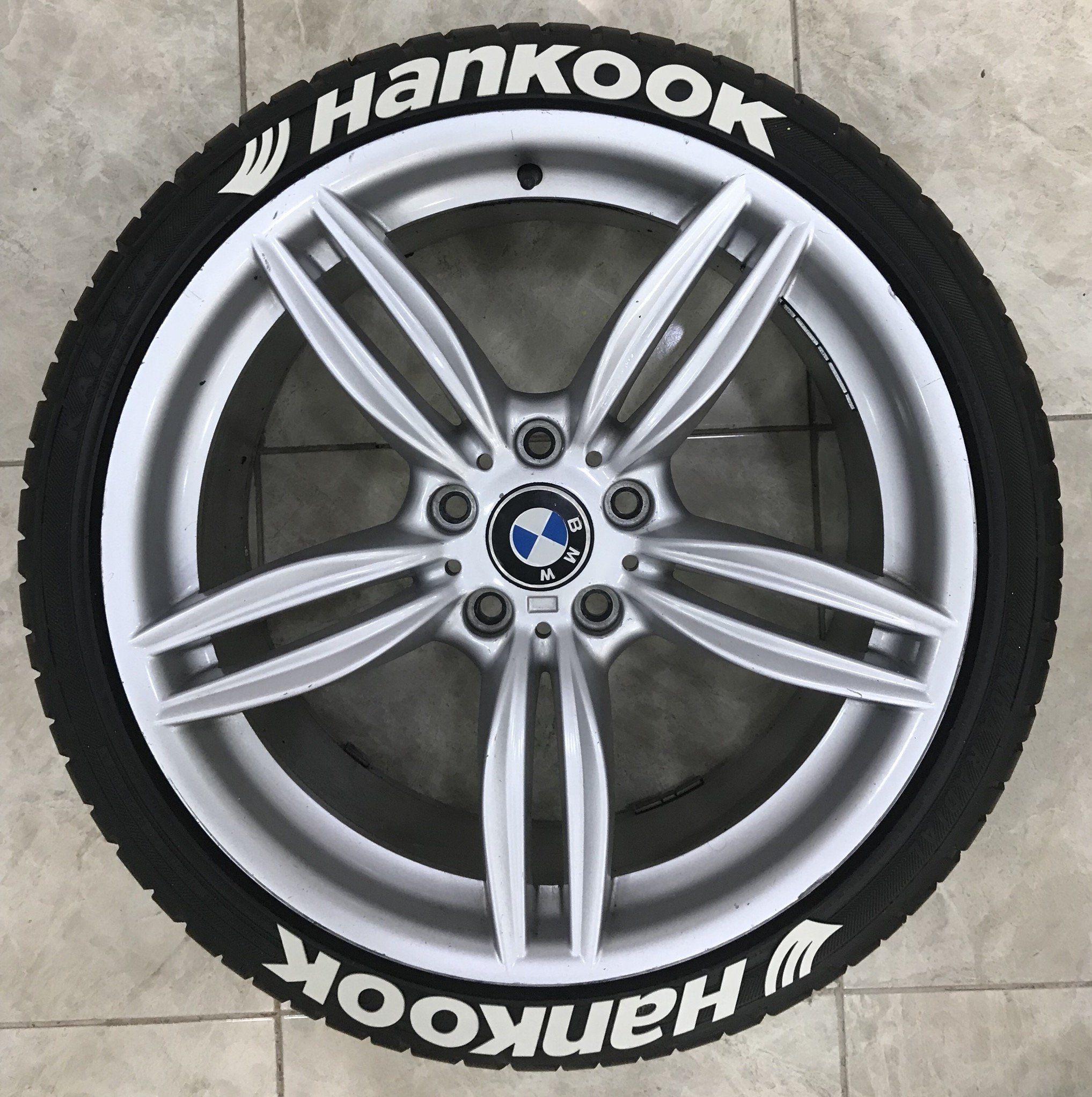 1 25 Hankook Rubber Permanent Tire Letter 8 Pcs 3D Tire Sticker