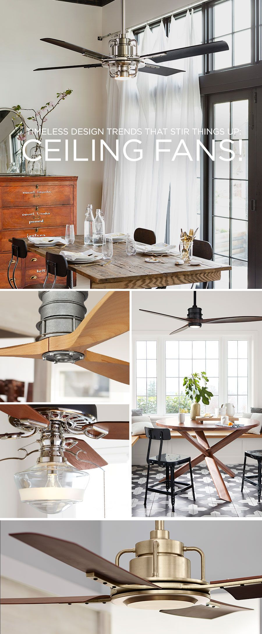 The Peregrine ceiling fan is an original Rejuvenation design and ...