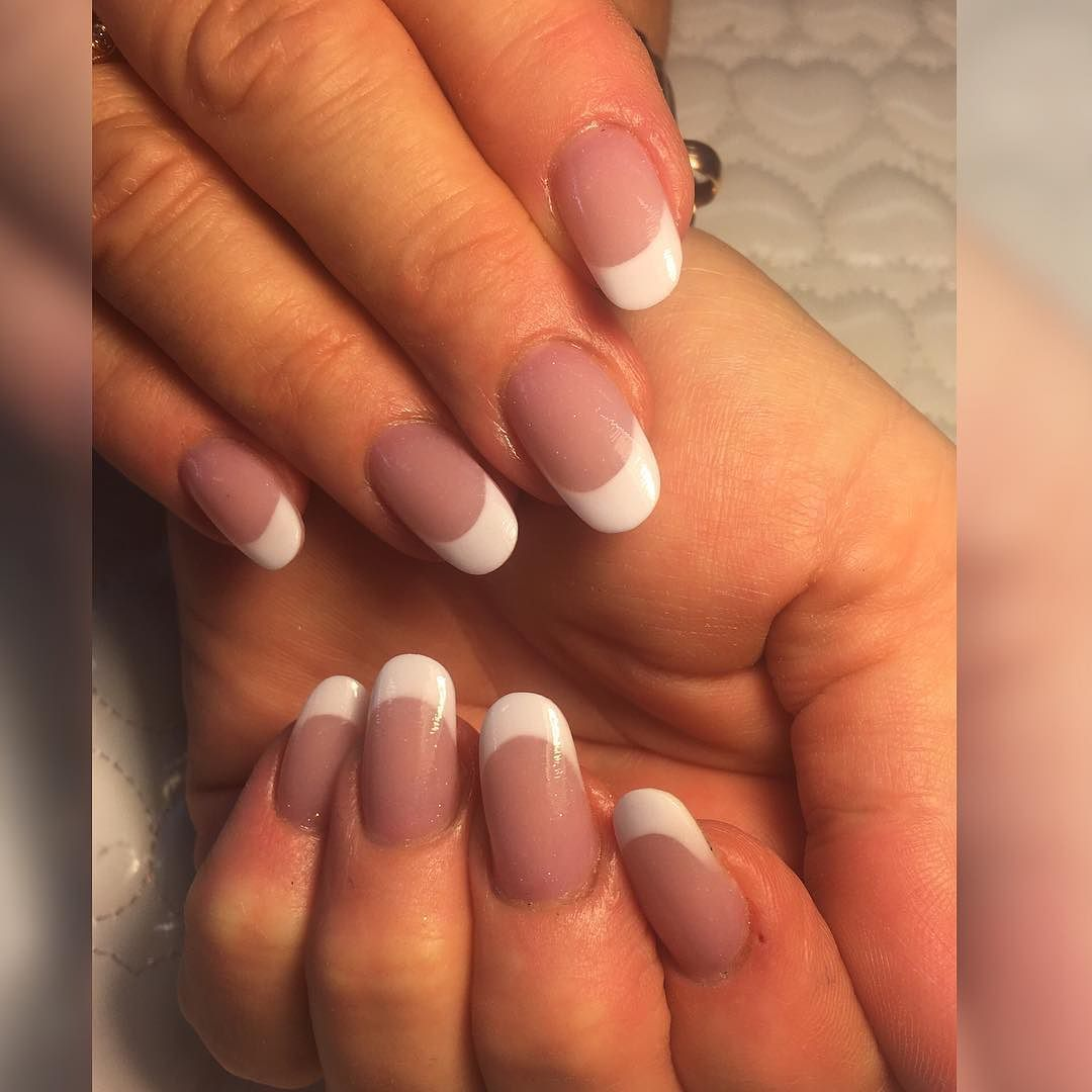 Acrylic French Rebalance. NO FAKE FRENCH WHITE TIPS USED. ALL HAND ...