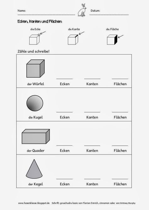 im geometrieunterricht k nnen die sch ler auf diesen beiden arbeitsbl ttern ihre z hlergebnisse. Black Bedroom Furniture Sets. Home Design Ideas