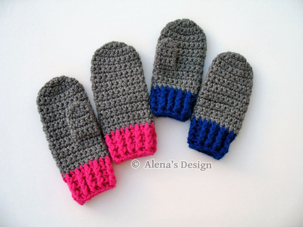 Crochet Pattern 104 Crochet Mitten Pattern For Childrens Mittens