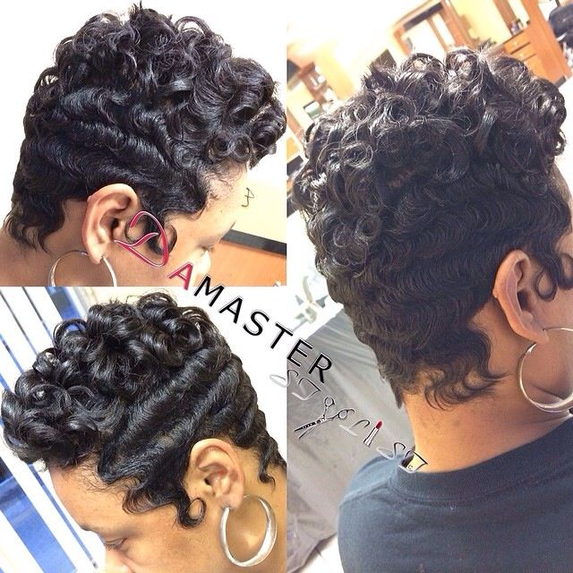 Short Finger Waves And Curls New Look Short Hair Styles Hair