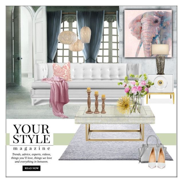 """""""White & cool"""" by frenchfriesblackmg ❤ liked on Polyvore featuring interior, interiors, interior design, home, home decor, interior decorating, ESPRIT, Andrew Martin, Jonathan Adler and Three Hands"""