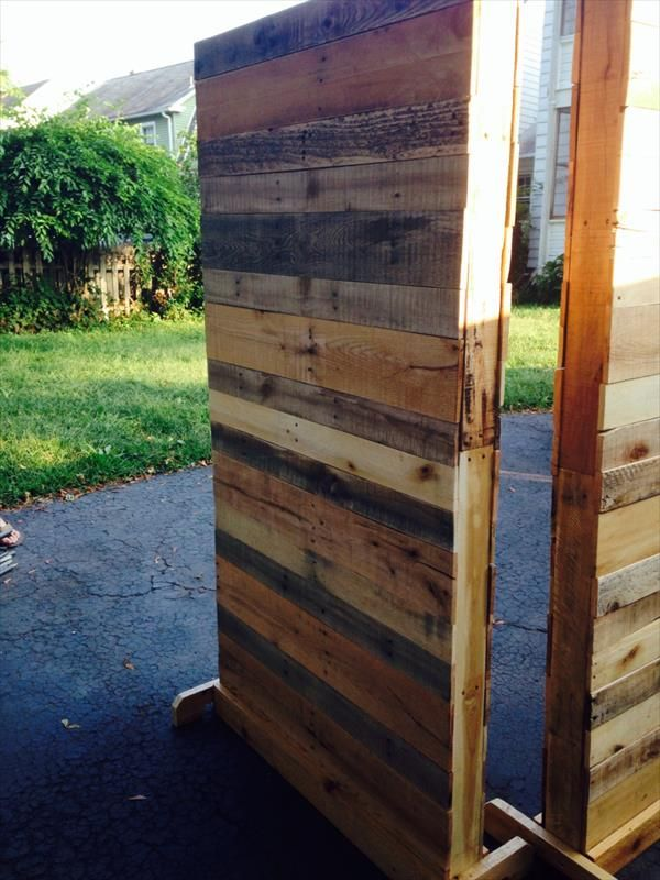 Diy Pallet Room Divider 101 Pallets Home Decor Pinterest