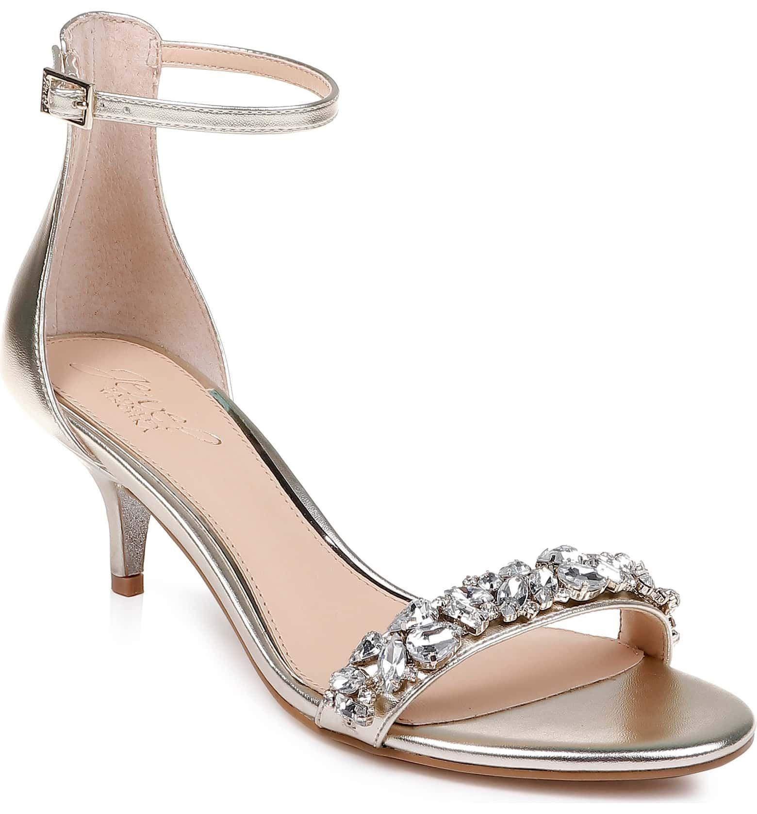 Pin By Chung Li On Prom In 2020 Evening Sandals Kitten Heel Sandals Jewel Badgley Mischka