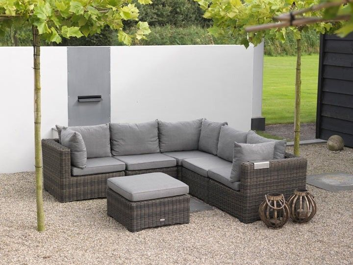 rimini lounge gartenm bel gartenset 6 teilig poly dunkelgrau braun garten pinterest garten. Black Bedroom Furniture Sets. Home Design Ideas
