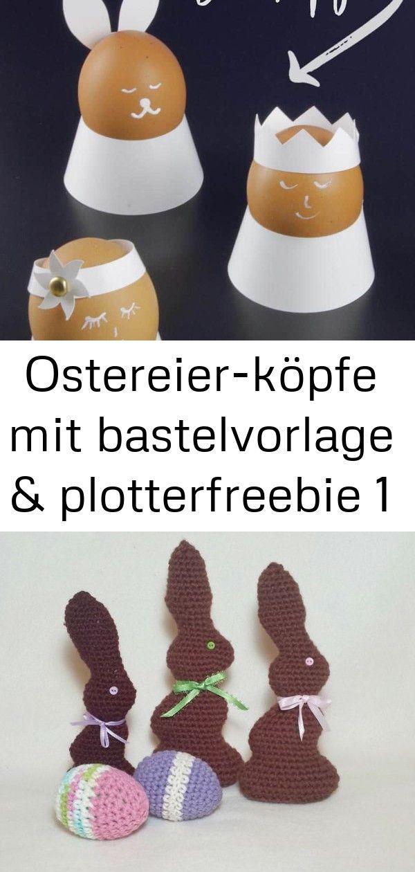 Ostereierköpfe mit bastelvorlage  plotterfreebie 1 Eierbecher für den Osterbrunch DekoIdee fürs OsterFrühstück Schnelle Verpackung für einze...