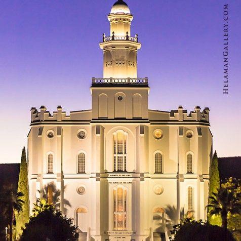 St George Temple Dusk Templos