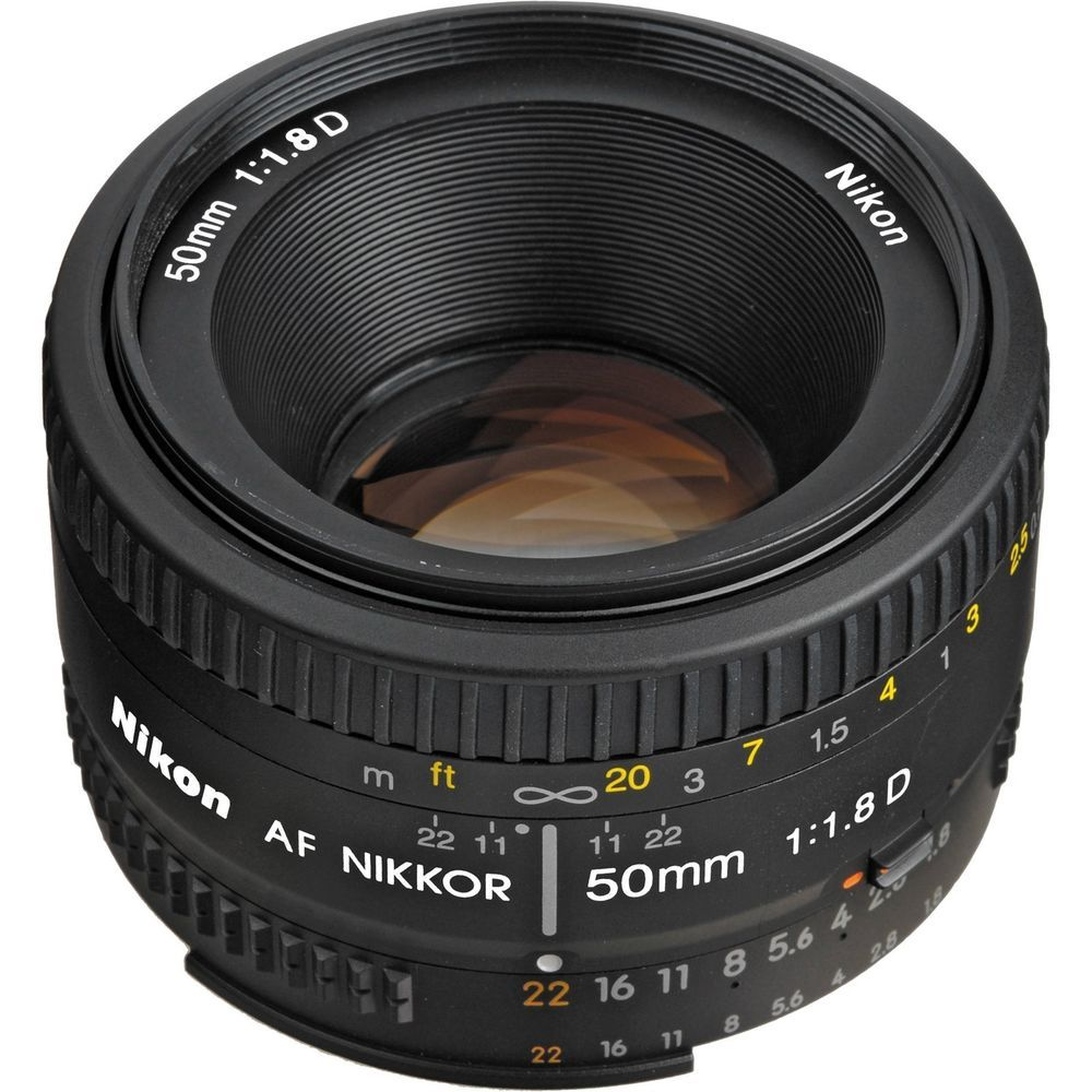 A standard 50mm focal length on FX format cameras, it provides a ...