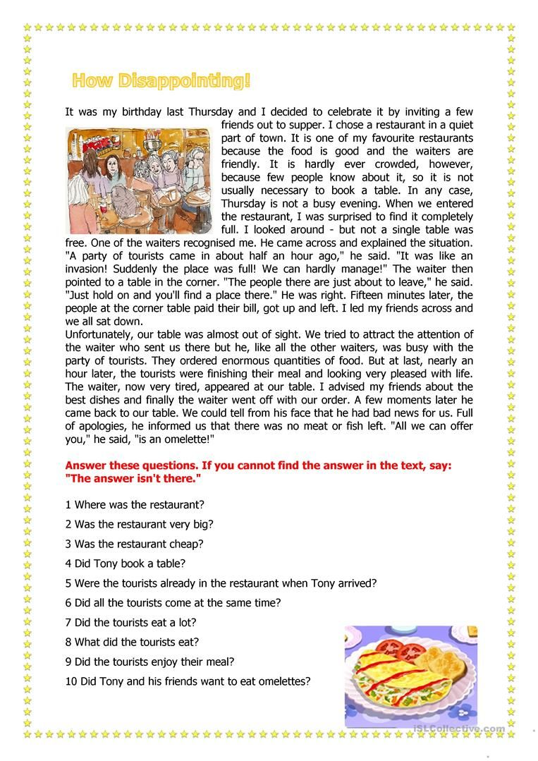 How Disappointing Worksheet Free Esl Printable Worksheets Made Reading Comprehension Worksheets Reading Comprehension Lessons Reading Comprehension Passages [ 1079 x 763 Pixel ]