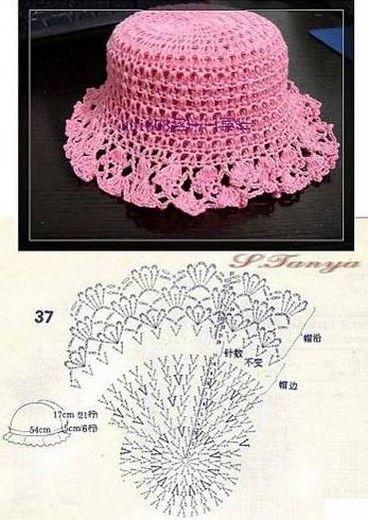 bonnet crochet (13)   Bonnet   Pinterest   Kinderkleidung ...