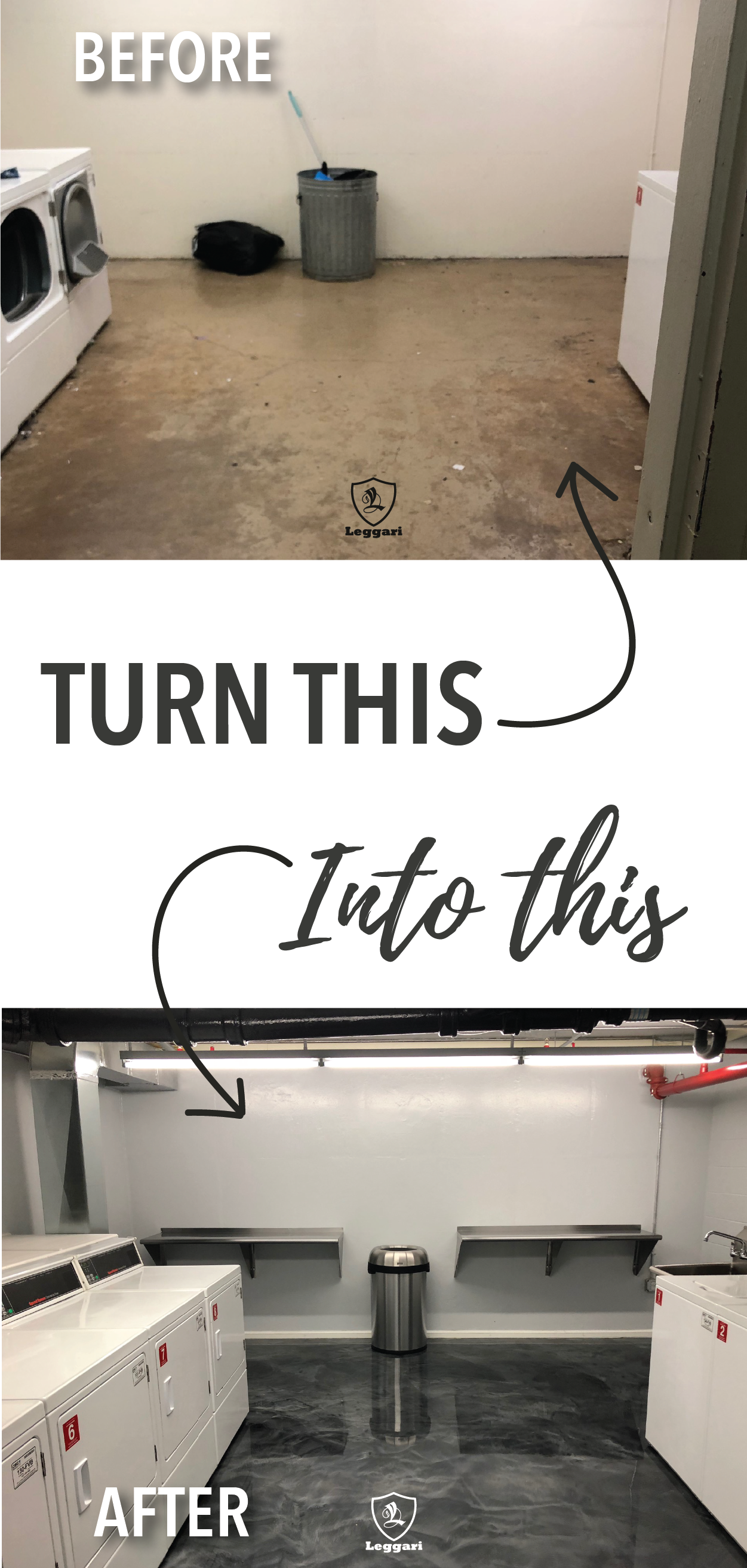 Turn your old floors into a new look using metallic epoxy