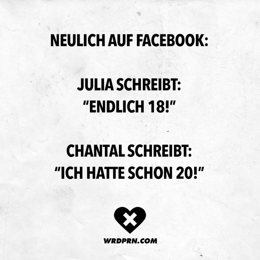Neulich Auf Facebook Julia Schreibt Endlich 18 Chantal Schreibt
