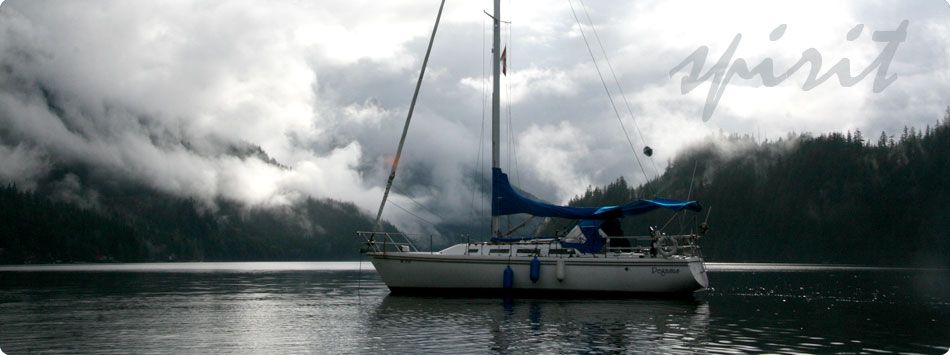 Misty Sailing in Deep Cove, BC