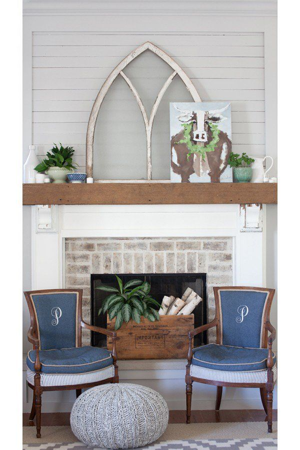 Fireplace Design fireplace colors : Soft French Gray Fireplace   Sherwin Williams. Christmas Cow from ...
