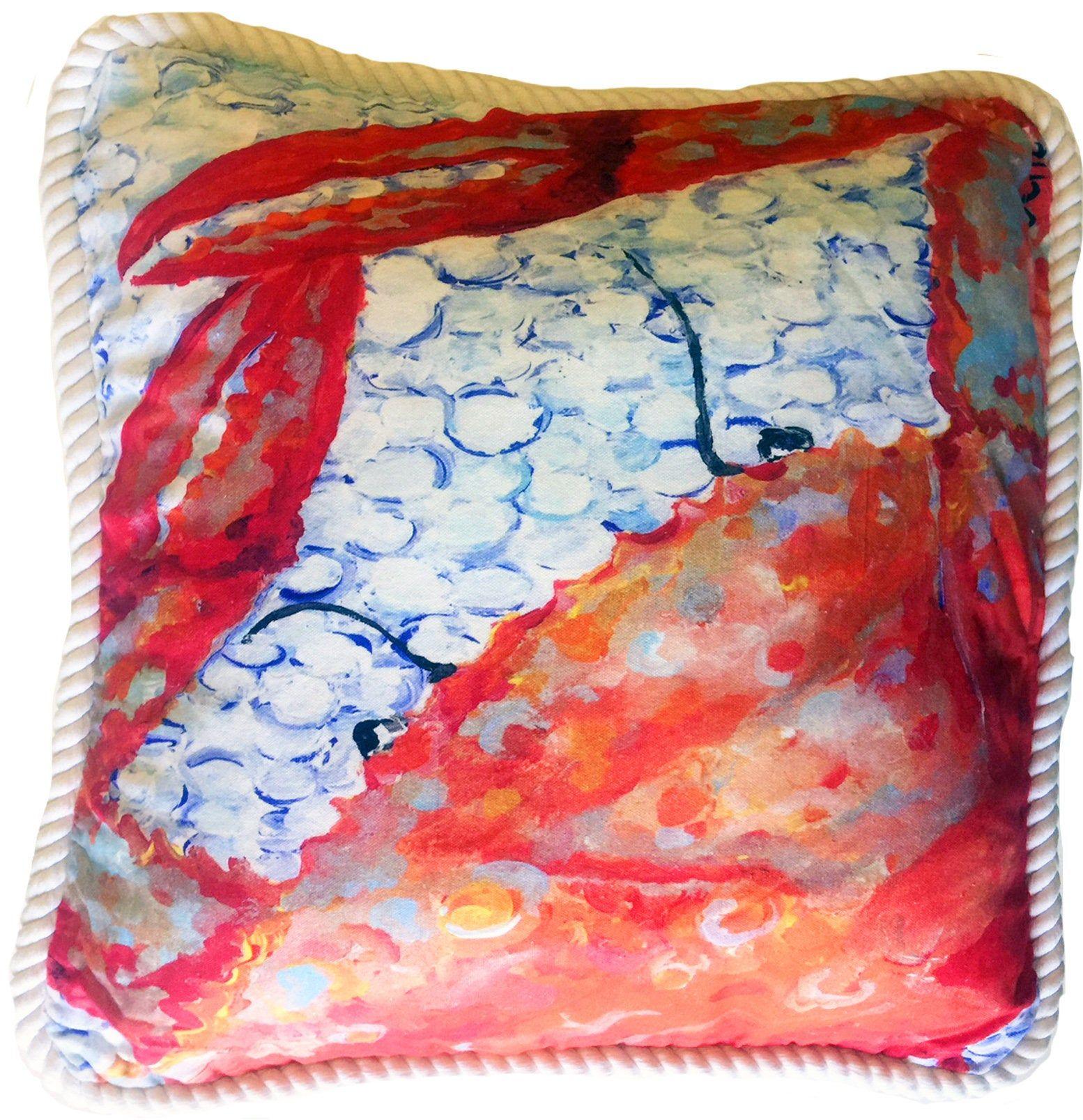 Blue Crab Pillow Great Coastal Decor 20 X 20 Etsy Crab Pillow Wine Throw Pillows Beach House Pillow