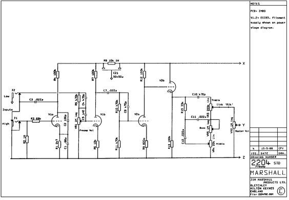 JCM800 2204 (1988) Schematic | Valve projects | Pinterest on 5e3 schematic, block diagram, slo-100 schematic, marshall schematic, jtm45 schematic, circuit diagram, ac30 schematic, irig schematic, overdrive schematic, amp schematic, bass tube preamp schematic, peavey schematic, one-line diagram, transformer schematic, tube map, piping and instrumentation diagram, soldano schematic, bassman schematic, zvex sho schematic, guitar schematic, jcm 900 schematic, 1987x schematic, fender schematic, 3pdt schematic, technical drawing, functional flow block diagram, dsl schematic,
