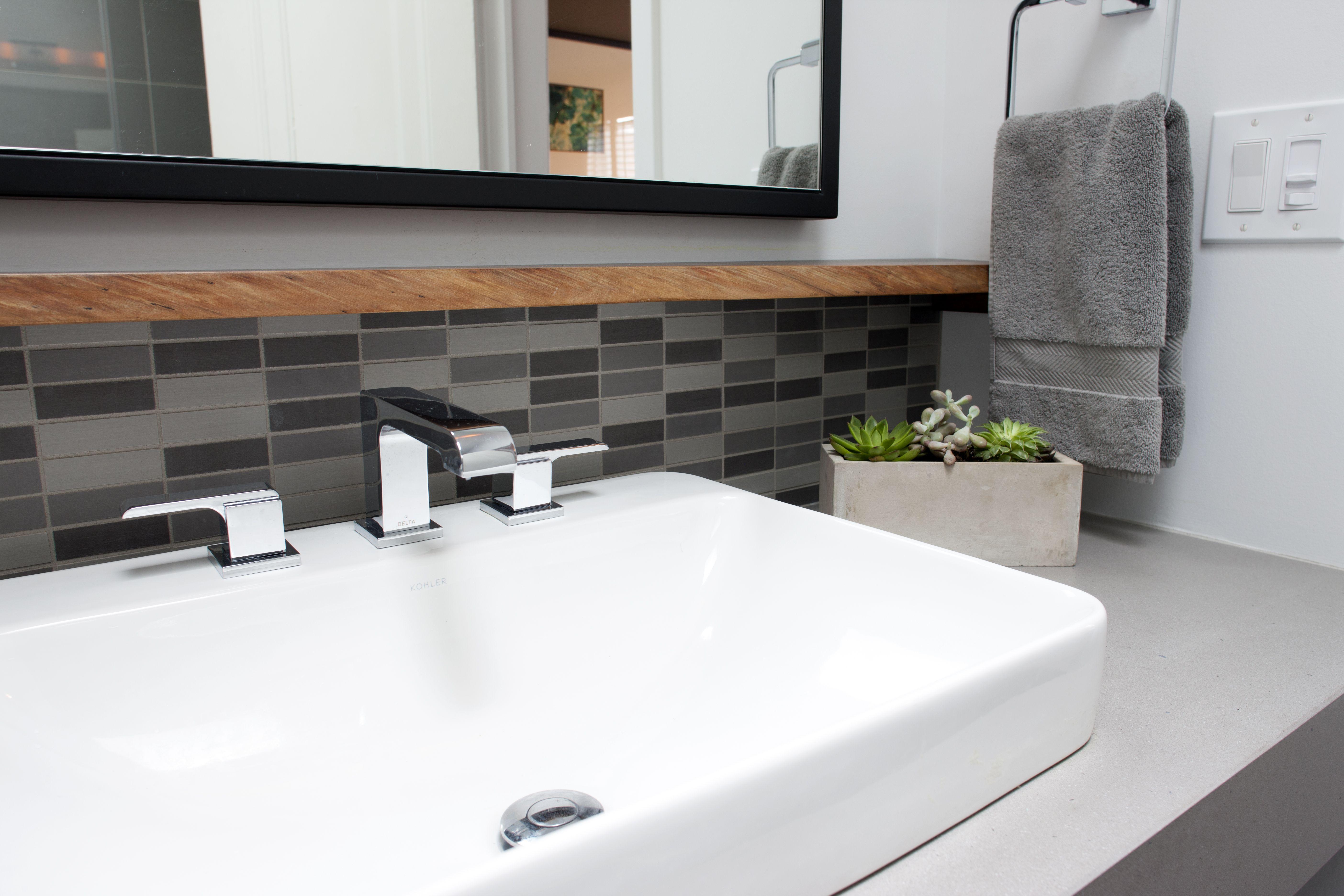 Warm Gray Porcelain Tiles Create A