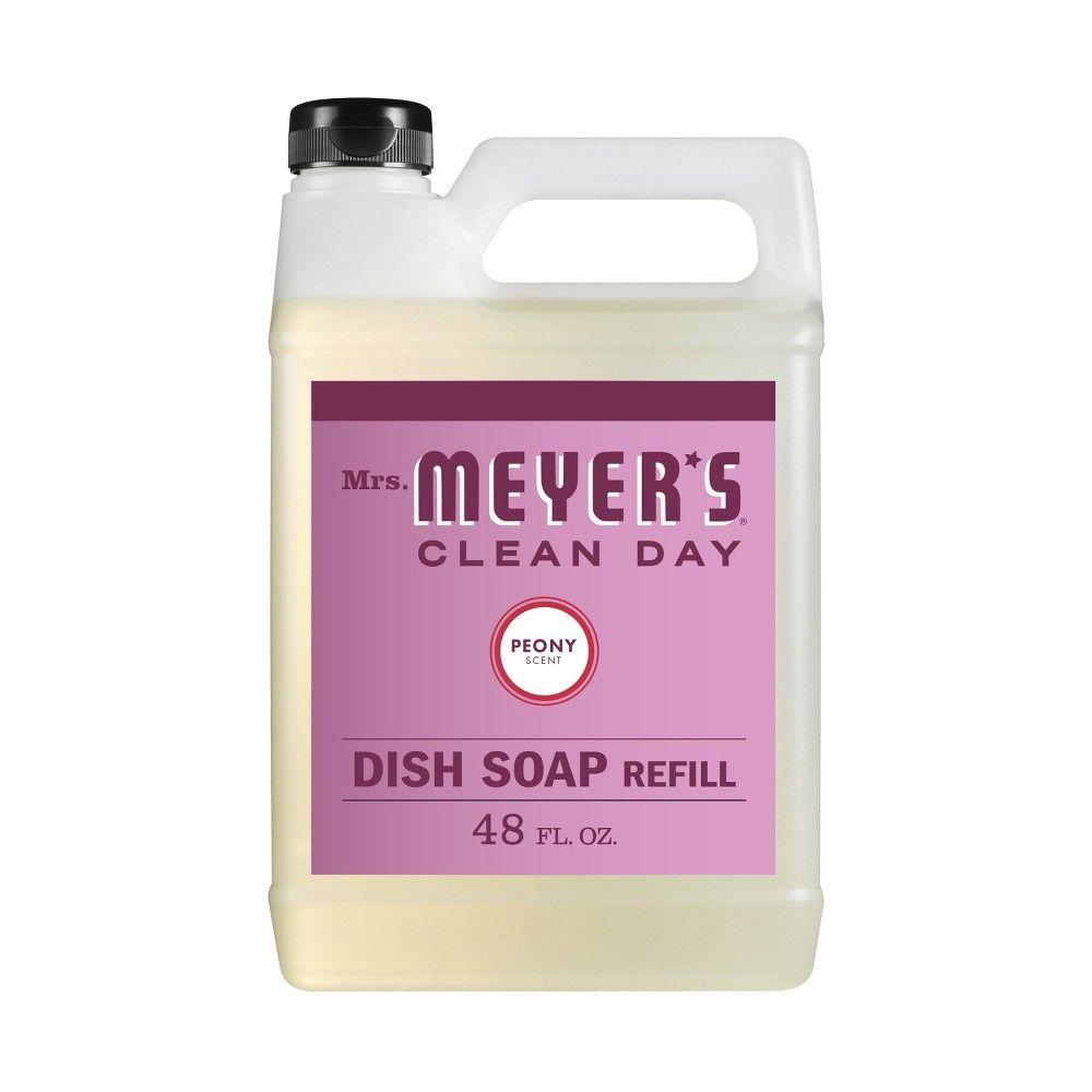 Mrs Meyer S Peony Dish Soap Refill 48 Fl Oz Dish Soap Soap