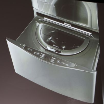 The Lg Washer The Washing Machines Comes With This Bottom Drawer As A Back Up Mini Washer Great For When You Have J Lg Washer Washing Machine Laundry Machine