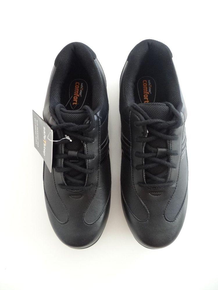 Safe T Step Womens Black Audra OX Slip