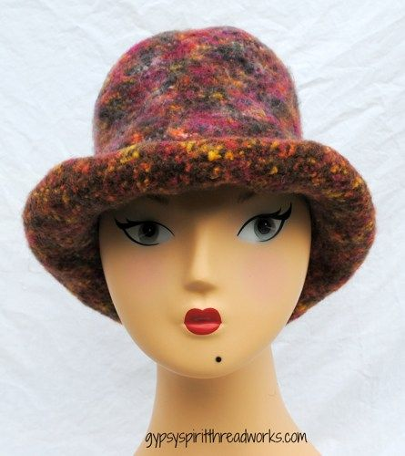 Gypsy Spirit Hand Knit Felted Wool Rock and Roll Top Hat