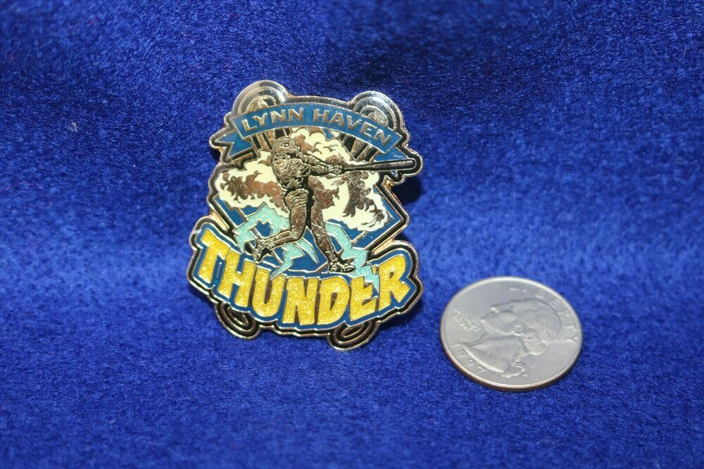 Baseball Minor League Lynn Haven Thunder All About Pins Trading Pin Allaboutpins Thunder In 2020 Lynn Haven Thunder New Justice League