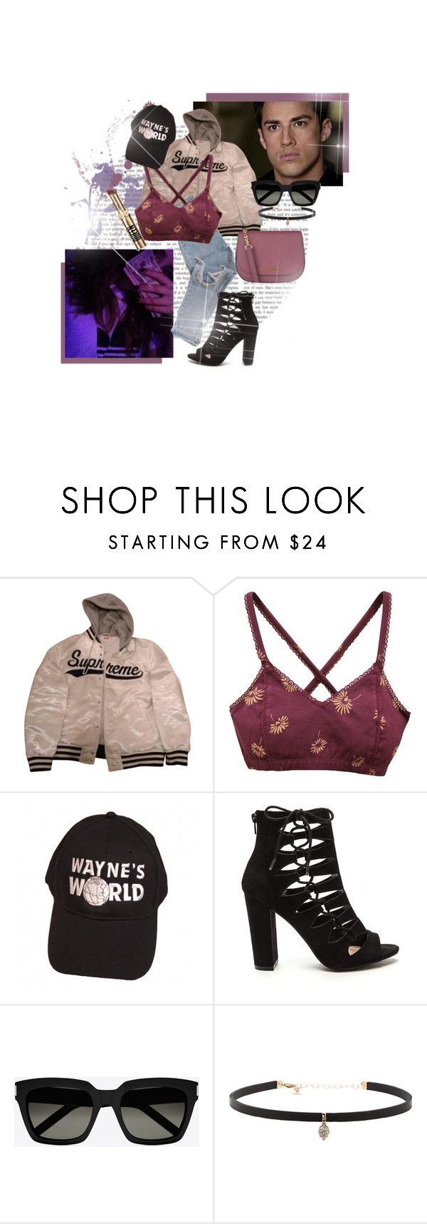 """""""Don't tell me who to be."""" by brook-s18 ❤ liked on Polyvore featuring Supreme, RVCA, Yves Saint Laurent, Carbon & Hyde, MICHAEL Michael Kors and michaeltrevino"""