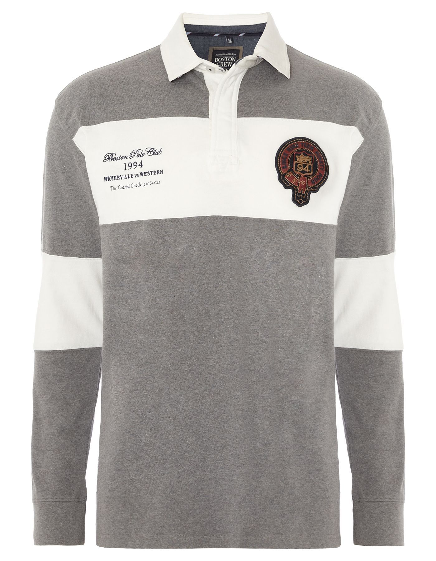 Black t shirt asda - Boston Crew Long Sleeve Polo Shirt Men George At Asda