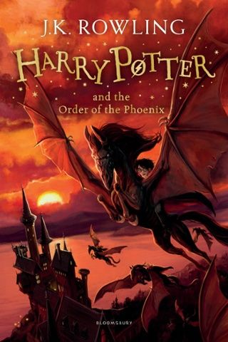 new cover for Harry Potter and he Order of the Phoenix (Bloomsbury) by Jonny Duddle