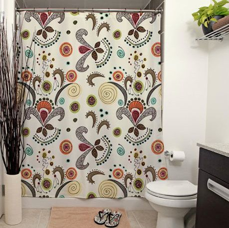 He encontrado este interesante anuncio de Etsy en https://www.etsy.com/es/listing/161316388/wired-flower-pattern-shower-curtain