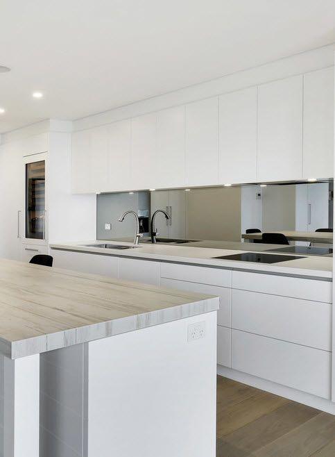 Du suchst Inspirationen für die Planung deiner edlen, weißen Küche - weiße küche arbeitsplatte