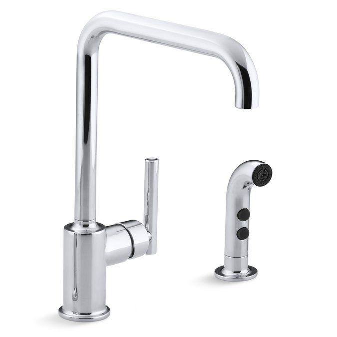 Purist Two-Hole Kitchen Sink Faucet with 8\