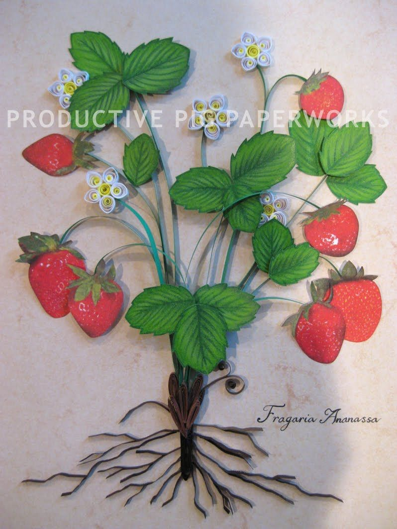 Strawberry Quilling
