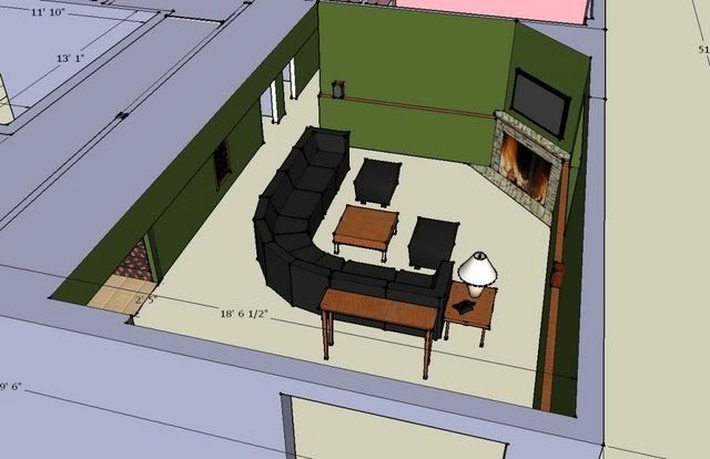 Furniture placement for corner fireplace for the home - Living room layout with corner fireplace ...