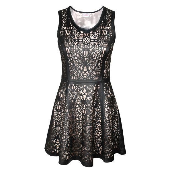 @PARKER Robe en cuir perforé 327.50 $ ( rég. 655 $ ) Leather Perforated Dress $327.50 ( reg. $655 ) #WinterSale #OGILVY