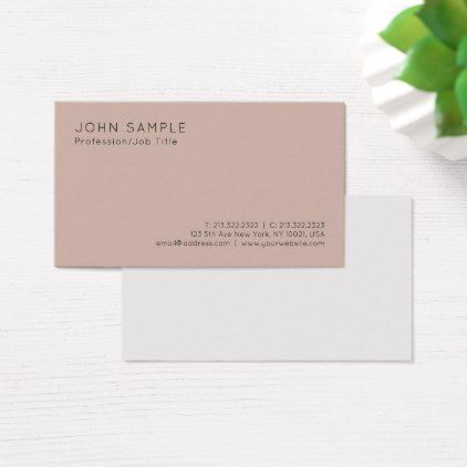 Elegant Colors Professional Minimalist Plain Business Card
