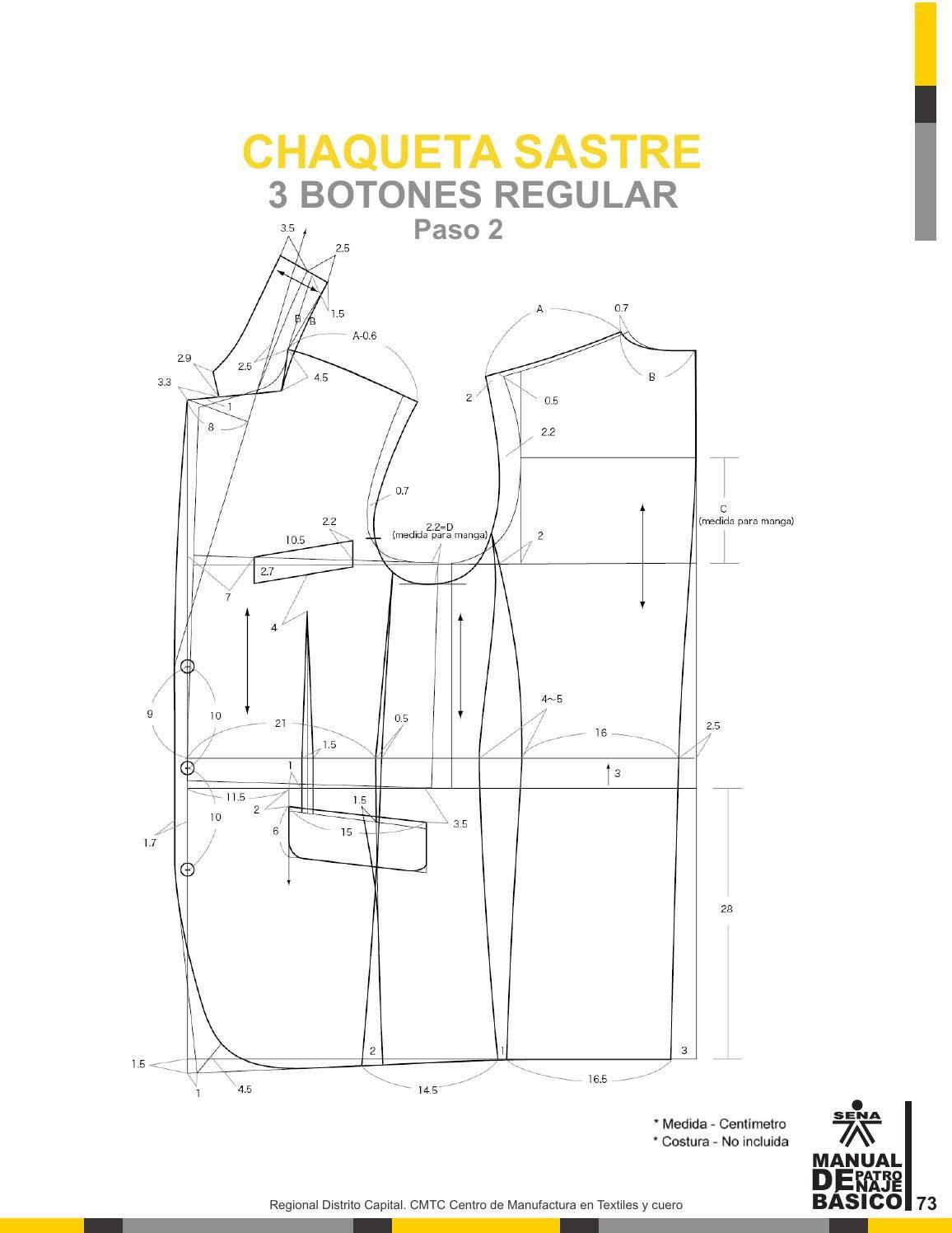 Manual patronaje Tgo en diseño para la industria de la