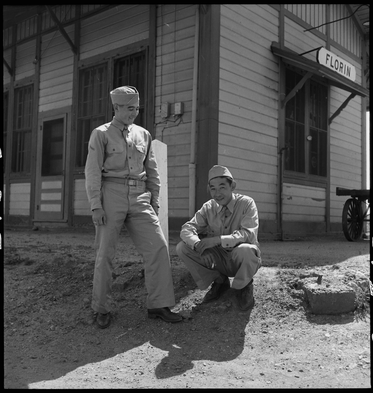 """Florin, CA. Two Of The Nine American Soldiers Of Japanese"