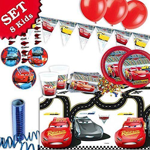 Cars 3 Geburtstag Deko Set 53 Teilig Zum Kindergeburtstag Jungen