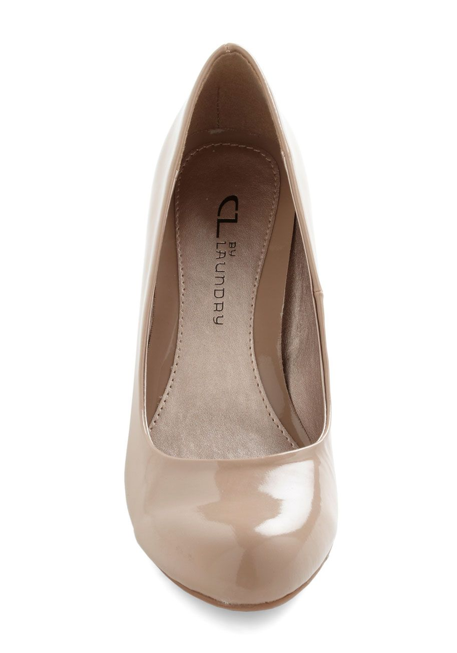 Find Your Feat Wedge in Ecru | Mod Retro Vintage Wedges | ModCloth.com nude wedges=love