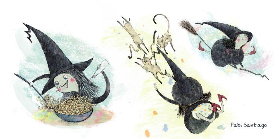 Velda, the little witch - Fabi Santiago illustration
