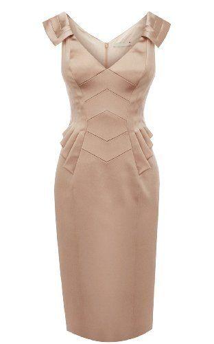 Noemie Elegant V Collor Slim Dress (Apricot) NoeMie, http://www.amazon.com/dp/B008AAIYGE/ref=cm_sw_r_pi_dp_tFParb1Q9637V