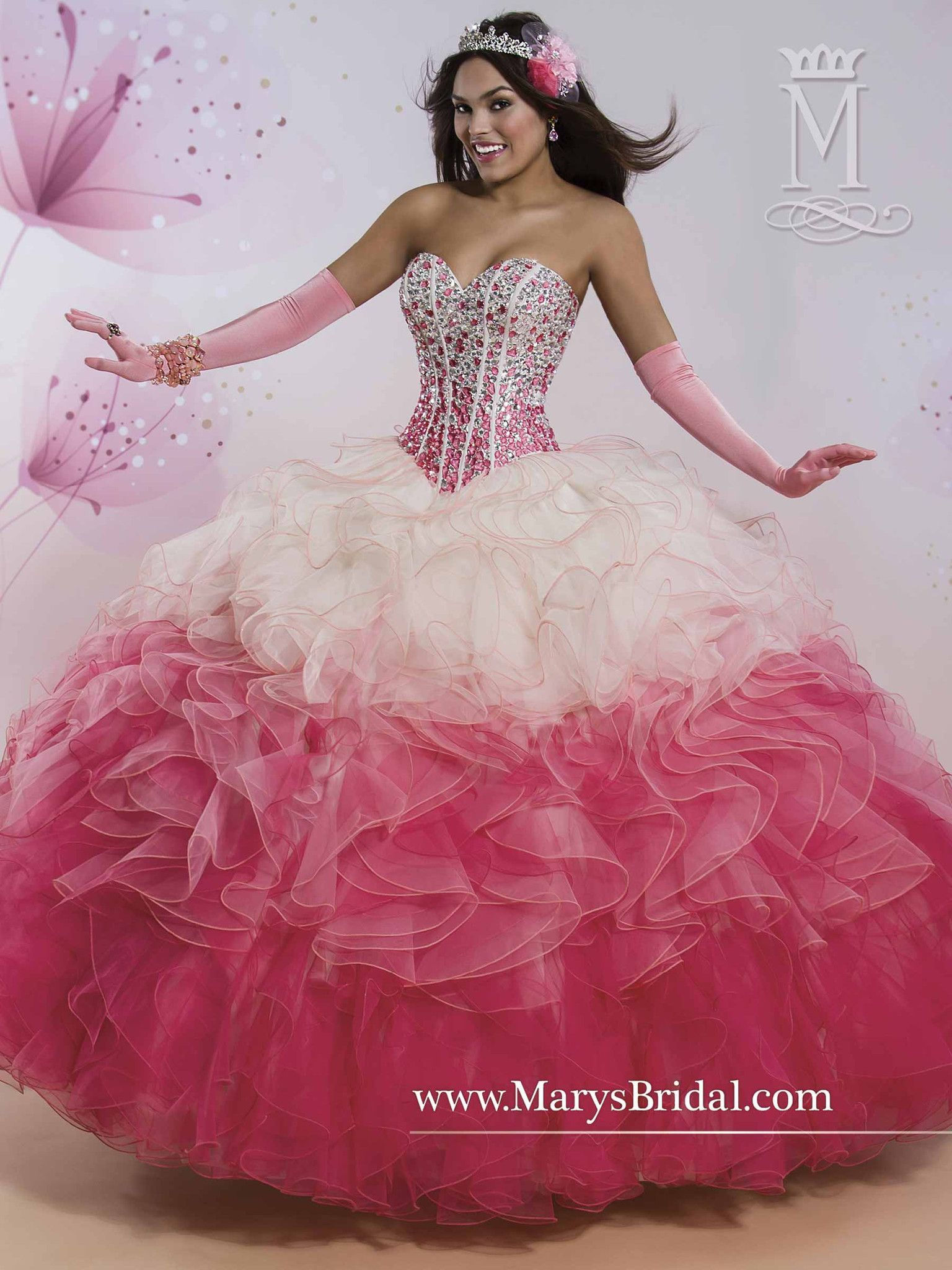 Mary\'s Bridal Princess Collection Quinceanera Dress Style 4Q403 ...