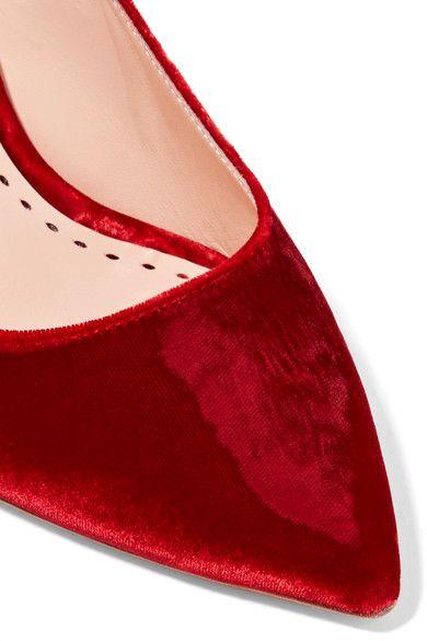 Rupert Slingback Pumps produits Sanderson RougeDes Velvet Diana gP1gawqR