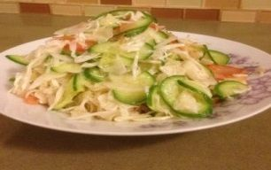 سلطة الملفوف الأبيض مع الخضروات الطاهية Cabbage Vegetables Food