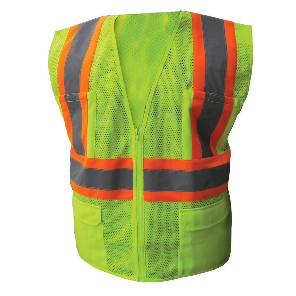 Enguard size 2xlarge lime class 2 poly mesh safety vest