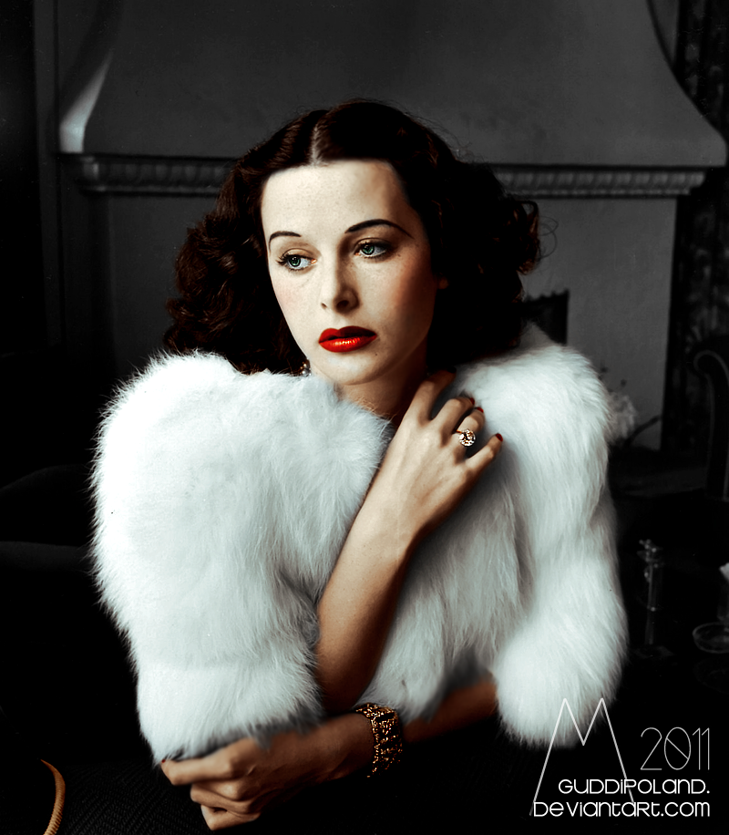 Joan Crawford and her first husband, Douglas Fairbanks, Jr. Black&white photo coloured by me.