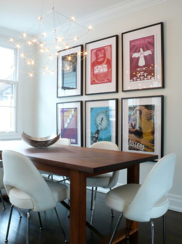 How To Decorate Using Posters Modern Dining Room Dining Room Contemporary Dining Room Walls