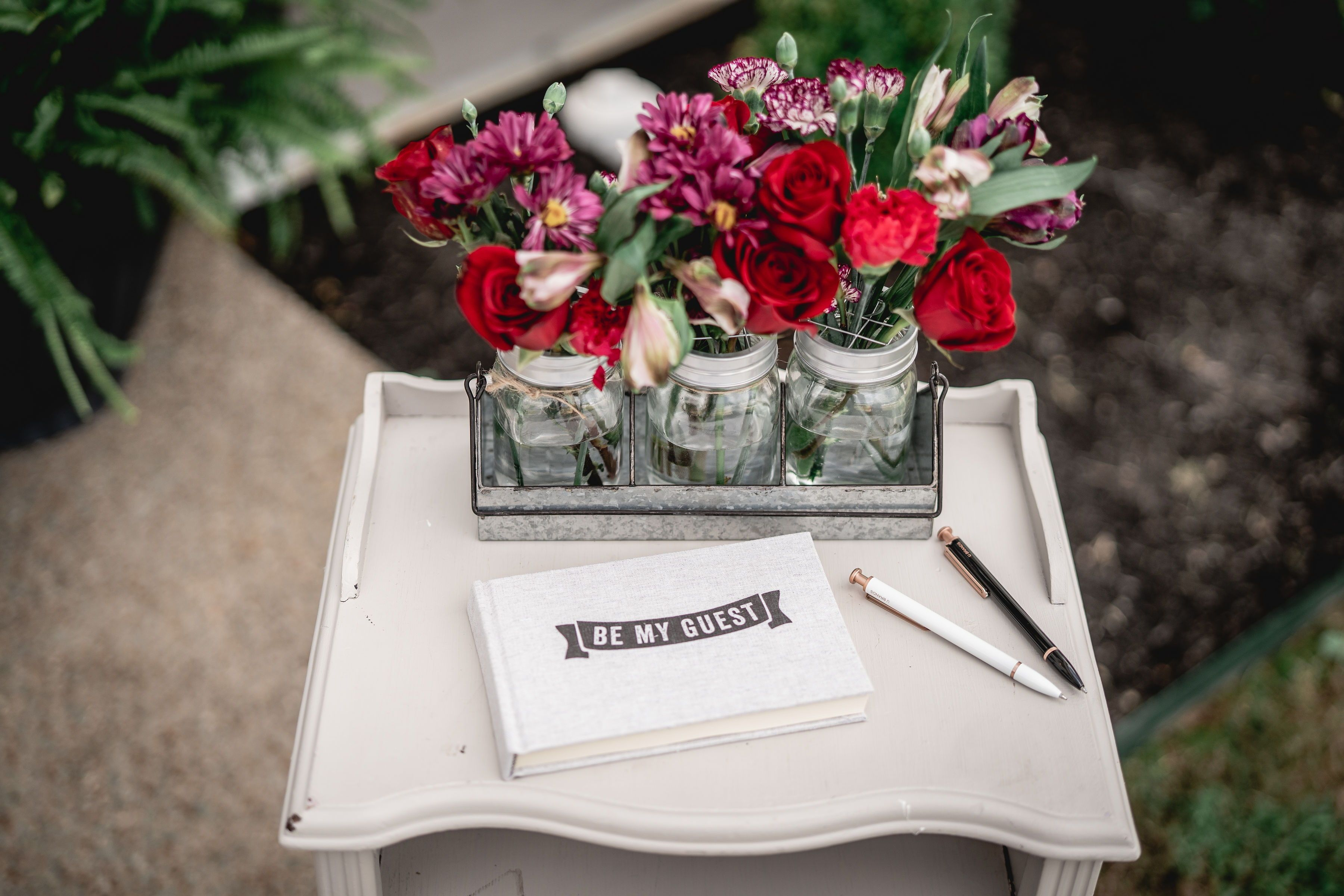 Fun Guest Book Table For Wedding Floral Decorations Simple